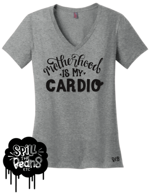 {MOM TEE} Motherhood Is My Cardio Tee