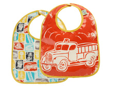 {BIB} Firetruck Bib - Gift Set of Two
