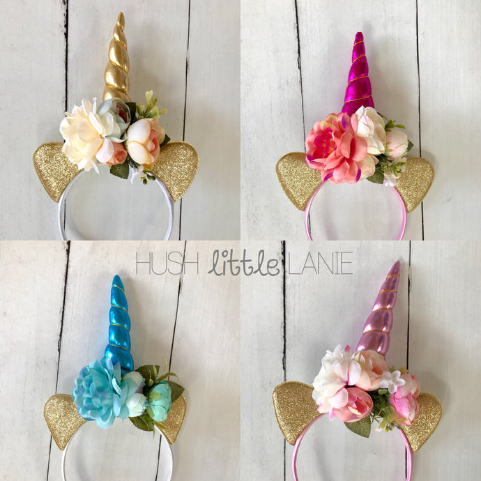 {HEADBAND} Unicorn Floral
