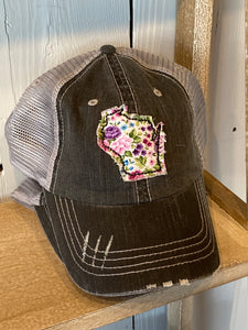 {MOM HAT} Wisconsin - Floral State Patch