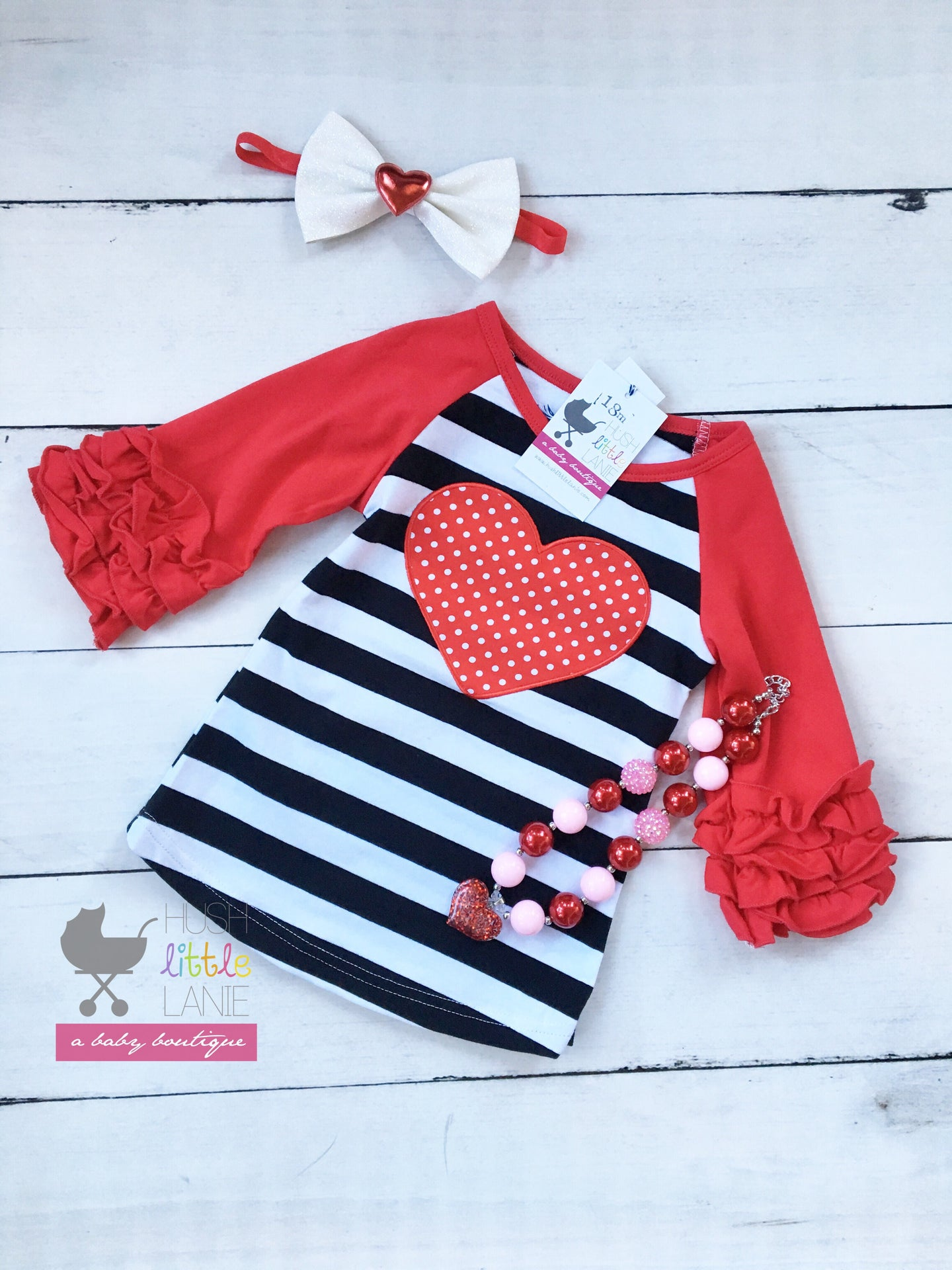 {SHIRT} Valentine Heart Stripes