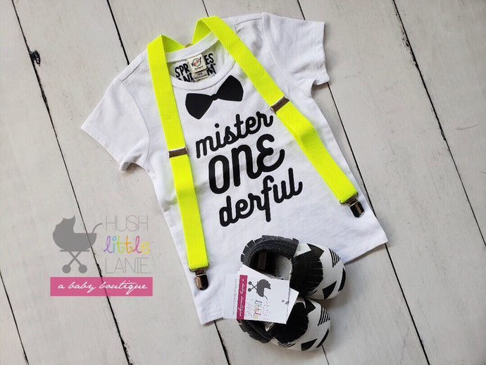 {SHIRT} Mr One-derful - WHITE - 1st Birthday