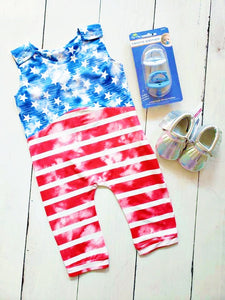 {ROMPER} Faded Stars And Stripes Romper