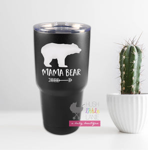 {TUMBLER} 30 oz. Matte Black Vacuum Insulated Tumbler w/Clear Lid