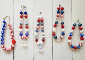 {CHUNKY NECKLACE} Traditional Stars And Stripes (#5)