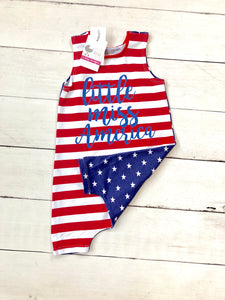 {ROMPER} Little Miss America - 18m