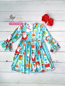 {DRESS} Light Blue Christmas Dress