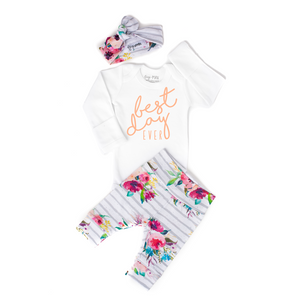 Gigi and Max - Best Day Ever Floral Newborn Set