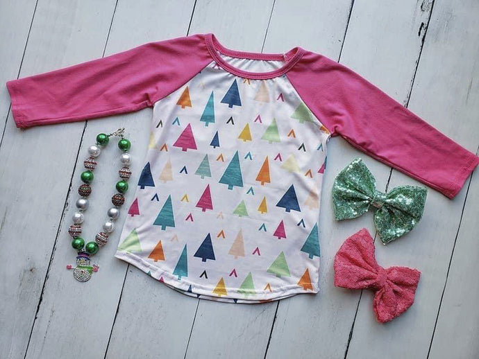 {SHIRT} Colorful Winter Wonderland Raglan