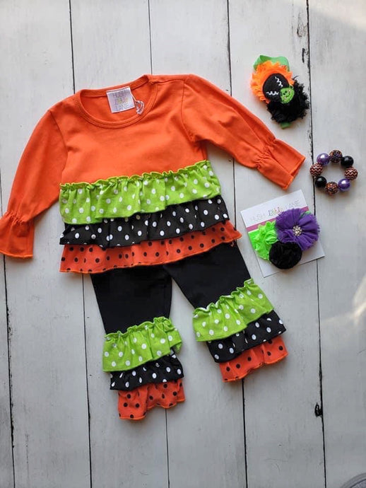 {OUTFIT} Halloween Polka Dot Ruffle