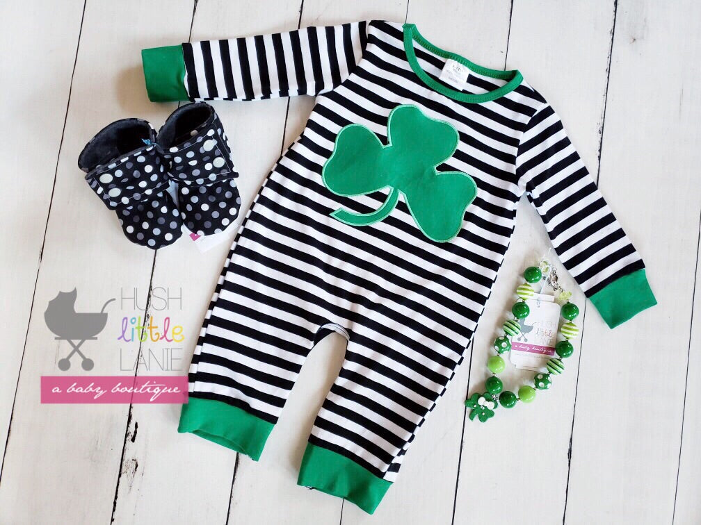 {ROMPER} St. Patty's Stripe
