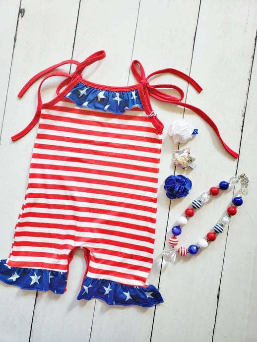 {ROMPER} Stripes Ruffle