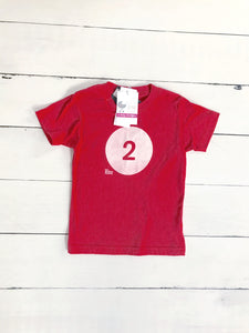 "{SHIRT} ""2"" Red Birthday Shirt (Glow-in-the-Dark)"