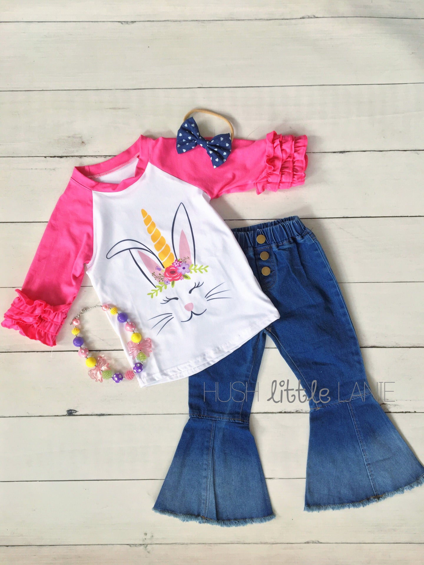 {SHIRT} Easter Unicorn Raglan
