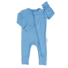 Gigi and Max - Baby Blue Footed Zip Outfit