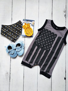 {ROMPER} Black and Grey Flag