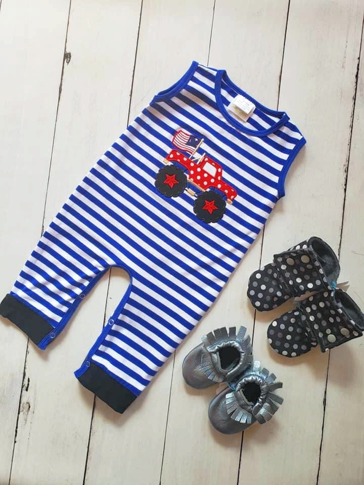 {ROMPER} Patriotic Monster Truck
