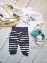 {LEGGINGS} Black Stripe Baby Joggers