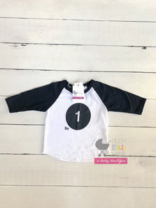 "{SHIRT} ""1"" Birthday Raglan"