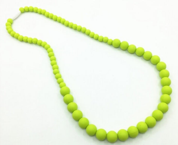 {TEETHER} Silicone Teething Necklace - Lime