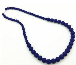 {TEETHER} Silicone Teething Necklace - Navy