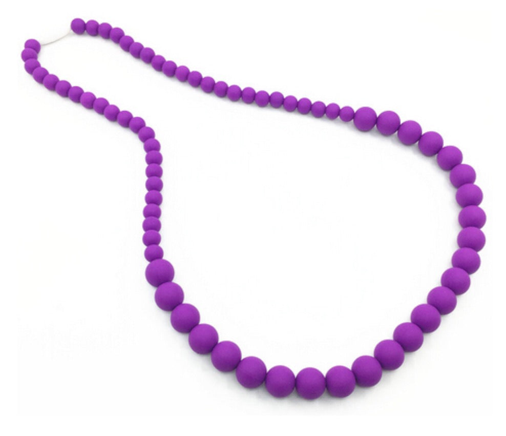 {TEETHER} Silicone Teething Necklace - Purple