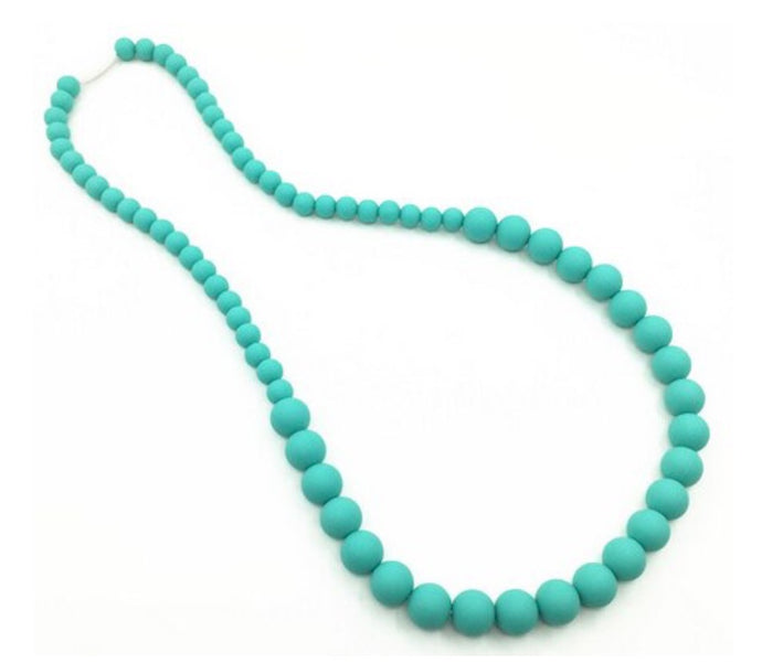 {TEETHER} Silicone Teething Necklace - Turquoise