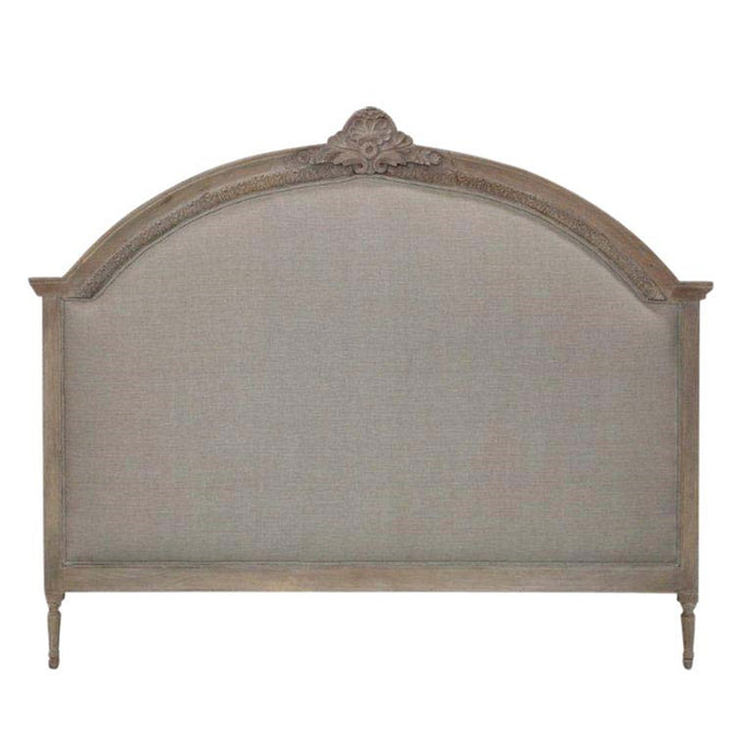 WOODEN ROUND TOP HEADBOARD