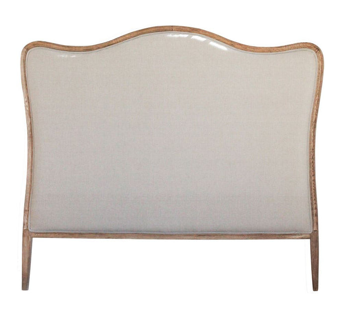 Oak and Linen Headboard - King