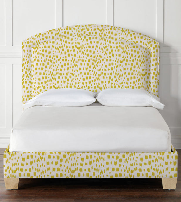 Paris Upholstered Bed in Carnival Citron