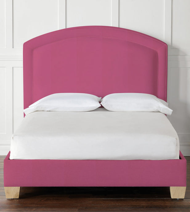Paris Upholstered Bed in Pink
