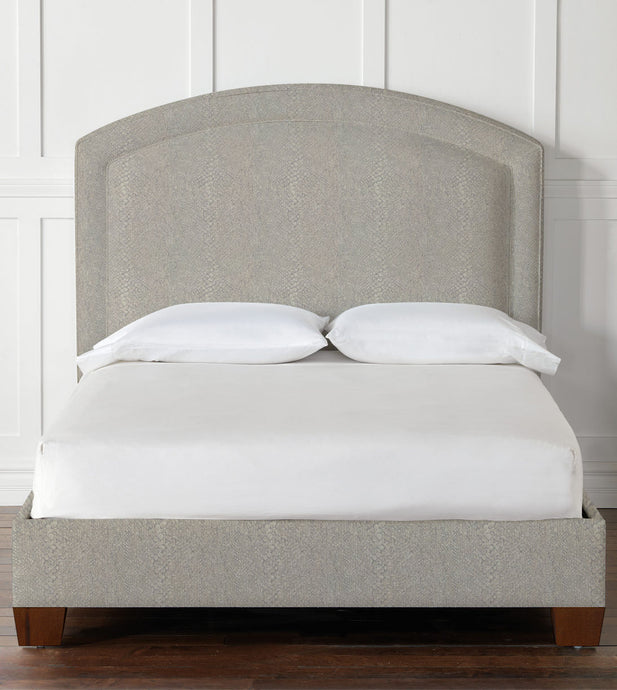 Paris Upholstered Bed in Ezra Smoke