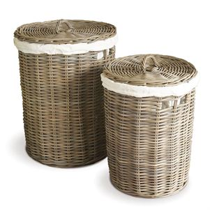 Normandy Hampers with cotton liners - Set of 2