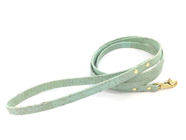 Cat harness and leash set in designer cork fabric with strong solid brass hardware, made in the UK by Noggins & Binkles