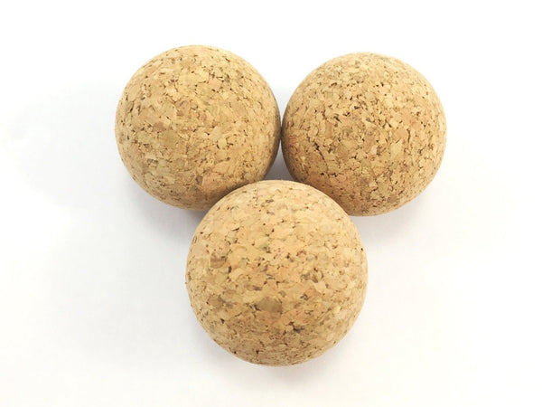 Eco friendly cat ball toys made from natural cork sold as a set of three