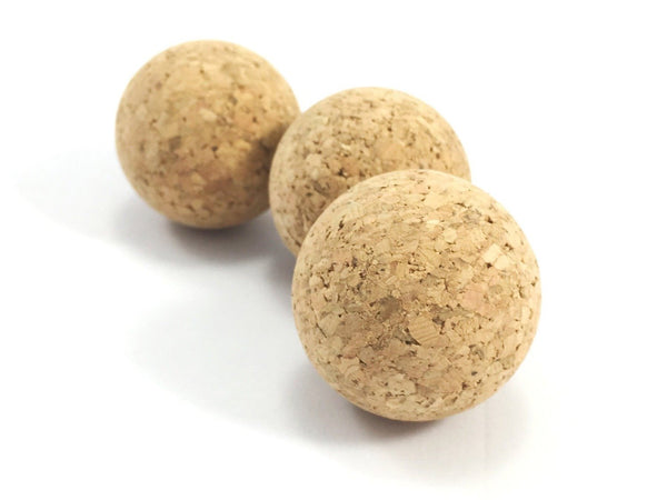 Natural cat balls toys made from eco friendly cork which is vegan and sustainable