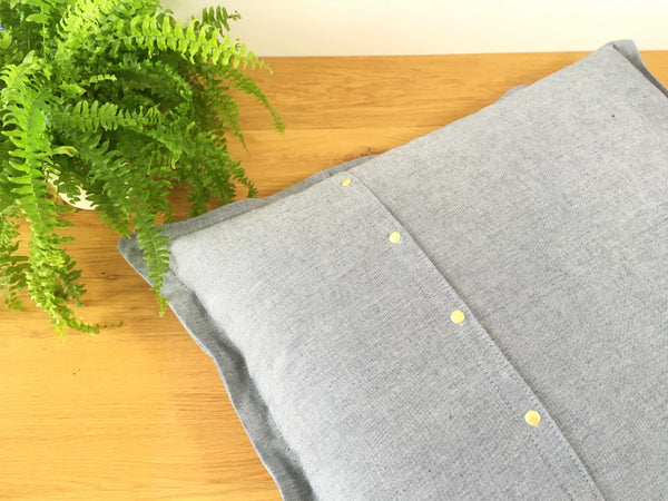 Eco friendly dog pillow bed in organic cotton canvas for small dogs and puppies