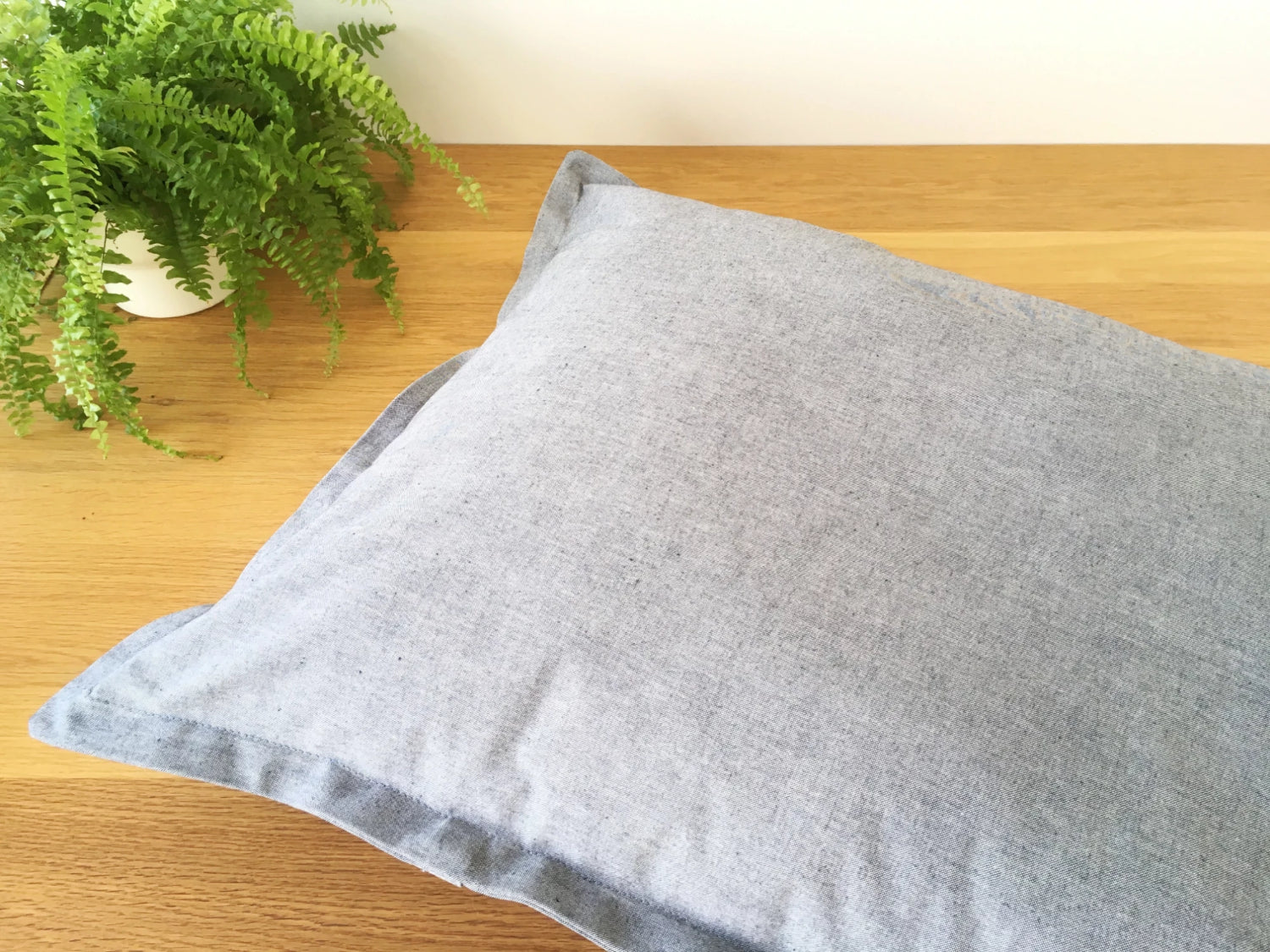 Luxury dog pillow cushion bed in organic cotton canvas fabric with recycled polyester fibre filling