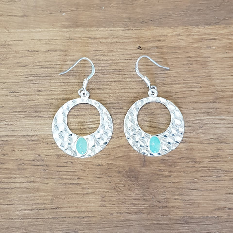 Boucles Cléo Amazonite