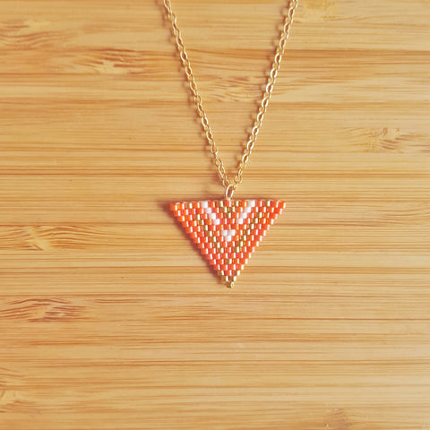 Collier Apache Orange