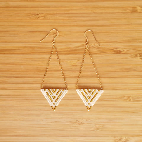 Boucles Apache Blanc & Or