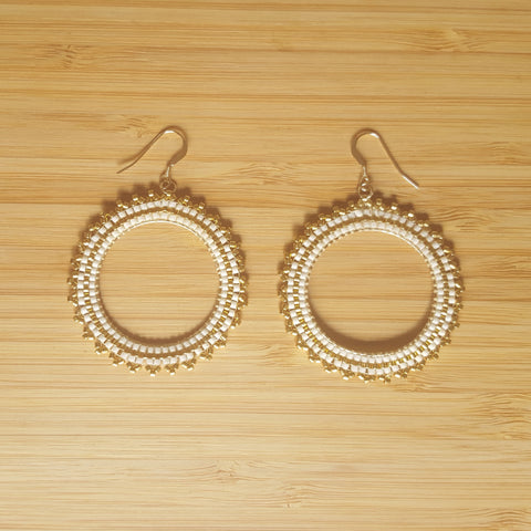 Boucles Inti Blanc & Or