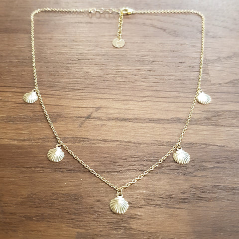 Collier ras de cou Coquillages gold