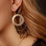 Boucles Indiana Agate Noire