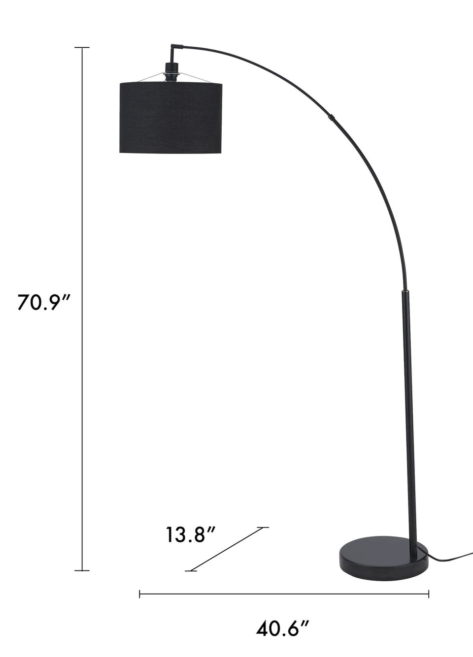 "BEVELRY 71"" Arched Floor Lamp - Archiology"