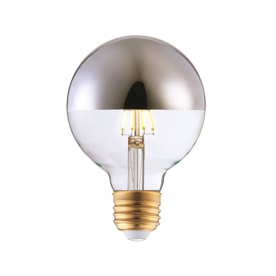 BROD LED Half-Chrome Light Bulb E26 Medium G95 - Archiology