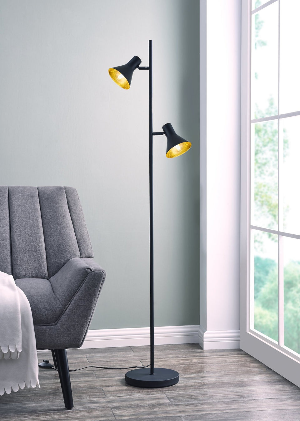 "Cone 2-Arm 55"" Tree Floor Lamp - Archiology"
