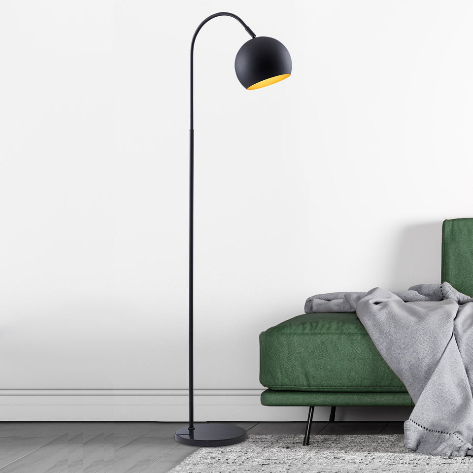 LOOP Floor Lamp with Marble Base - Archiology