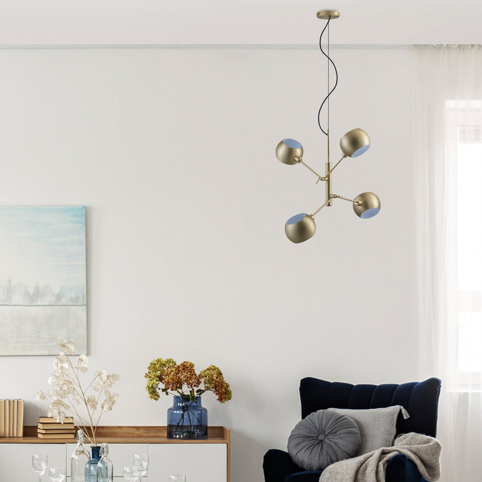 QUAD Brass Chandelier - Archiology