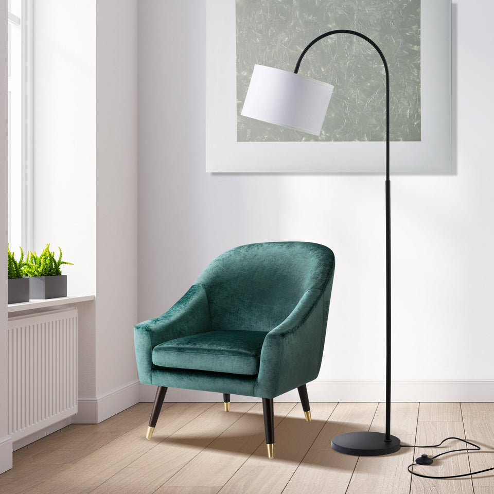 RUE Arc Floor Lamp (Black) - Archiology